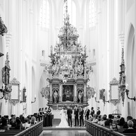 Wedding photo church ceremony   Bröllopsfoto kyrka cermoni