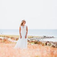 Wedding photo bride beach   Bröllopsfoto brud strand