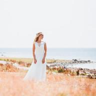 Wedding photo bride beach | Bröllopsfoto brud strand