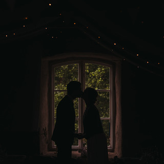Wedding photo couple portrait silhouettes | Bröllopsfoto brudpar porträtt silhuetter