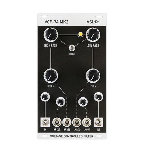 VCF-74 Mk2 : Eurorack filter, analog, voltage controlled, diode-ring, vintage