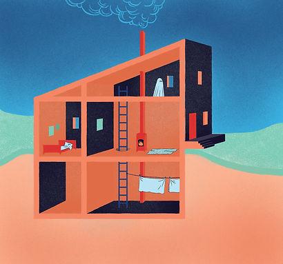 Frida Strømm illustrasjon, Kløpinne, Hjemme alene