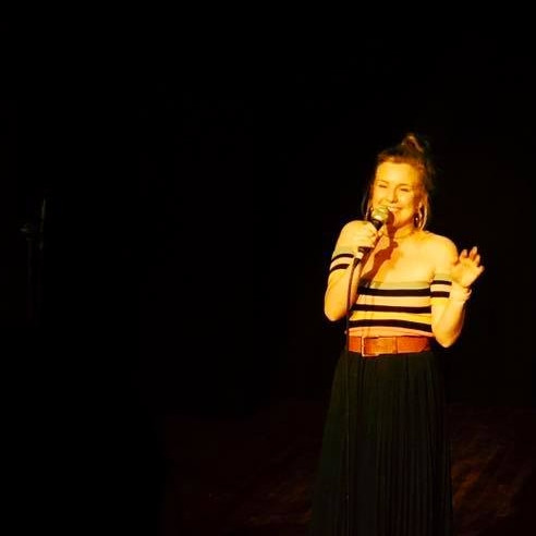 Performing standup at Brooklyn Comedy Collective