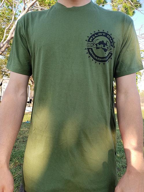 Pilot Cut shirt, Fern Green with Black Print
