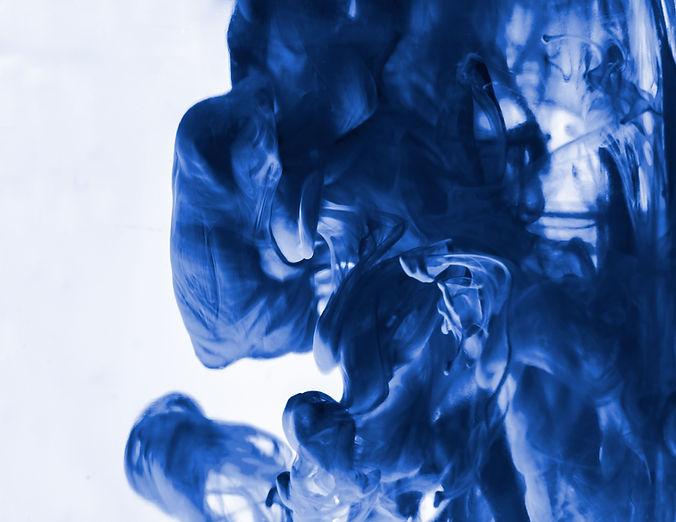 Fumaça azul grossa