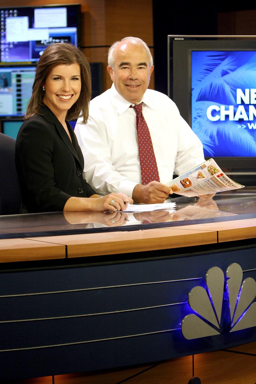 Paige Kornblue anchors alongside South Florida local TV legend Jim Sackett at WPTV, NBC, NewsChannel 5 in West Palm Beach