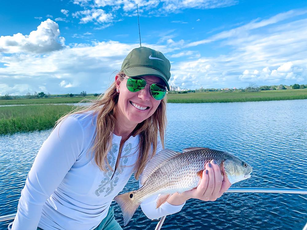 Fish St. Simons Island, Paige Kornblue fishing