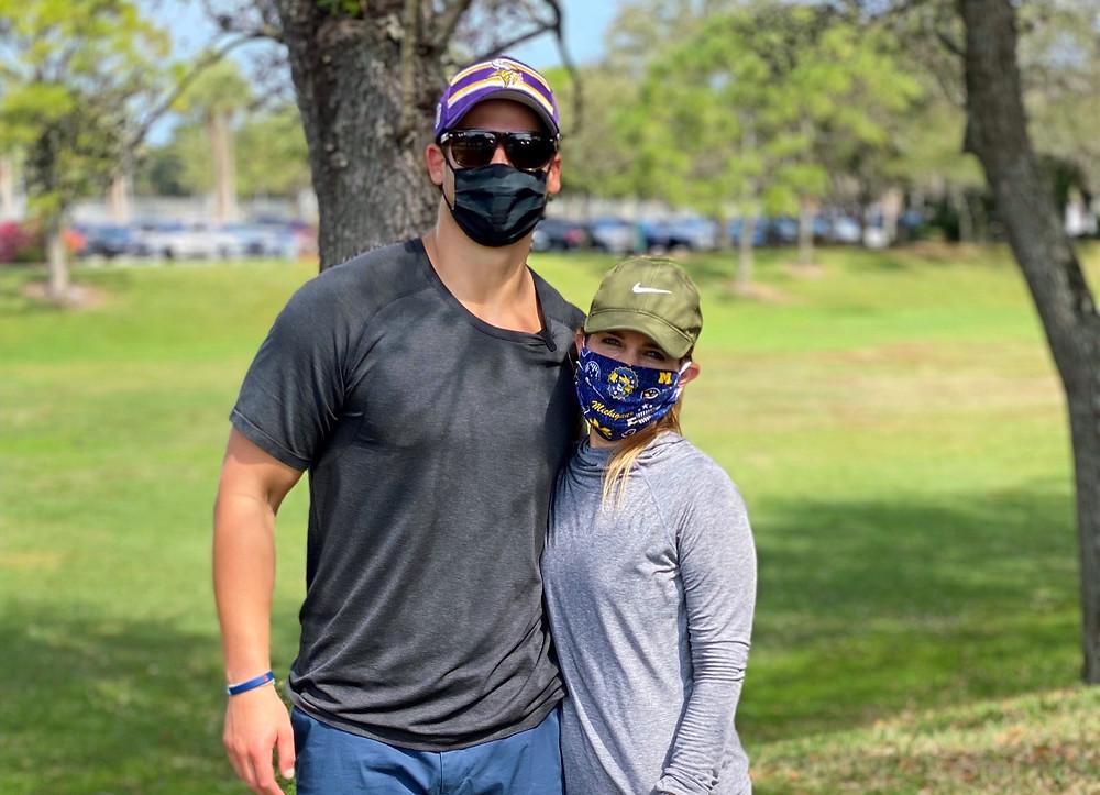 NFL Minnesota Vikings fullback Jake Bargas and reporter blogger Paige Kornblue
