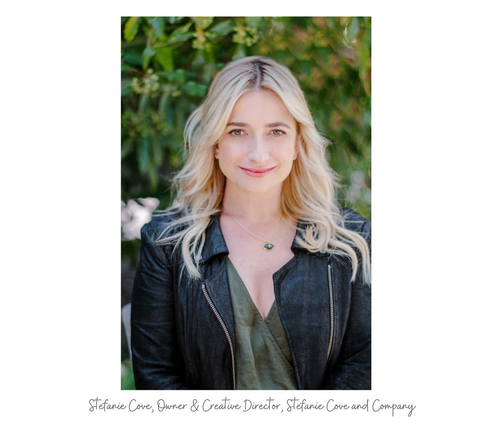Stefanie Cove, owner and creative director of Stefanie Cove and Company, as featured on www.paigekornblue.com