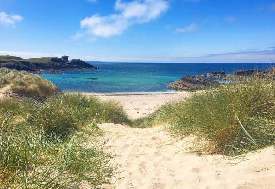 Clachtoll beach from the sand dunes