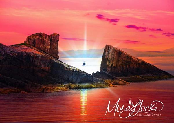 Split rock Clachtoll images by Morag Locke