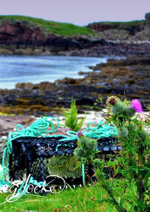 Lobster pot Clachtoll with thanks to Morsag Locke