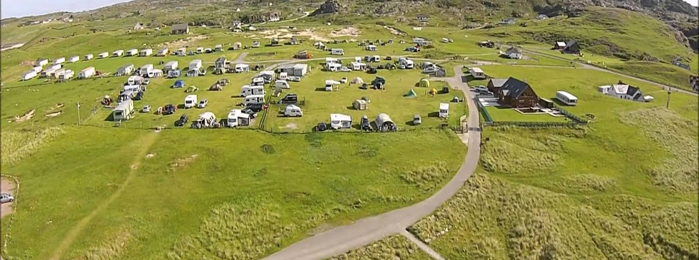 Clachtoll campsite from the sky