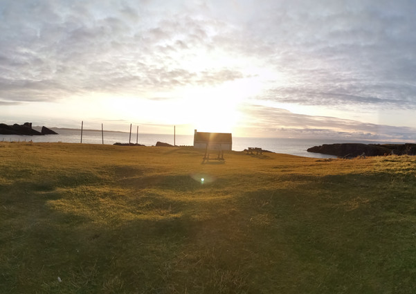Sunset at Clachtoll over looking the Salmon Bothy