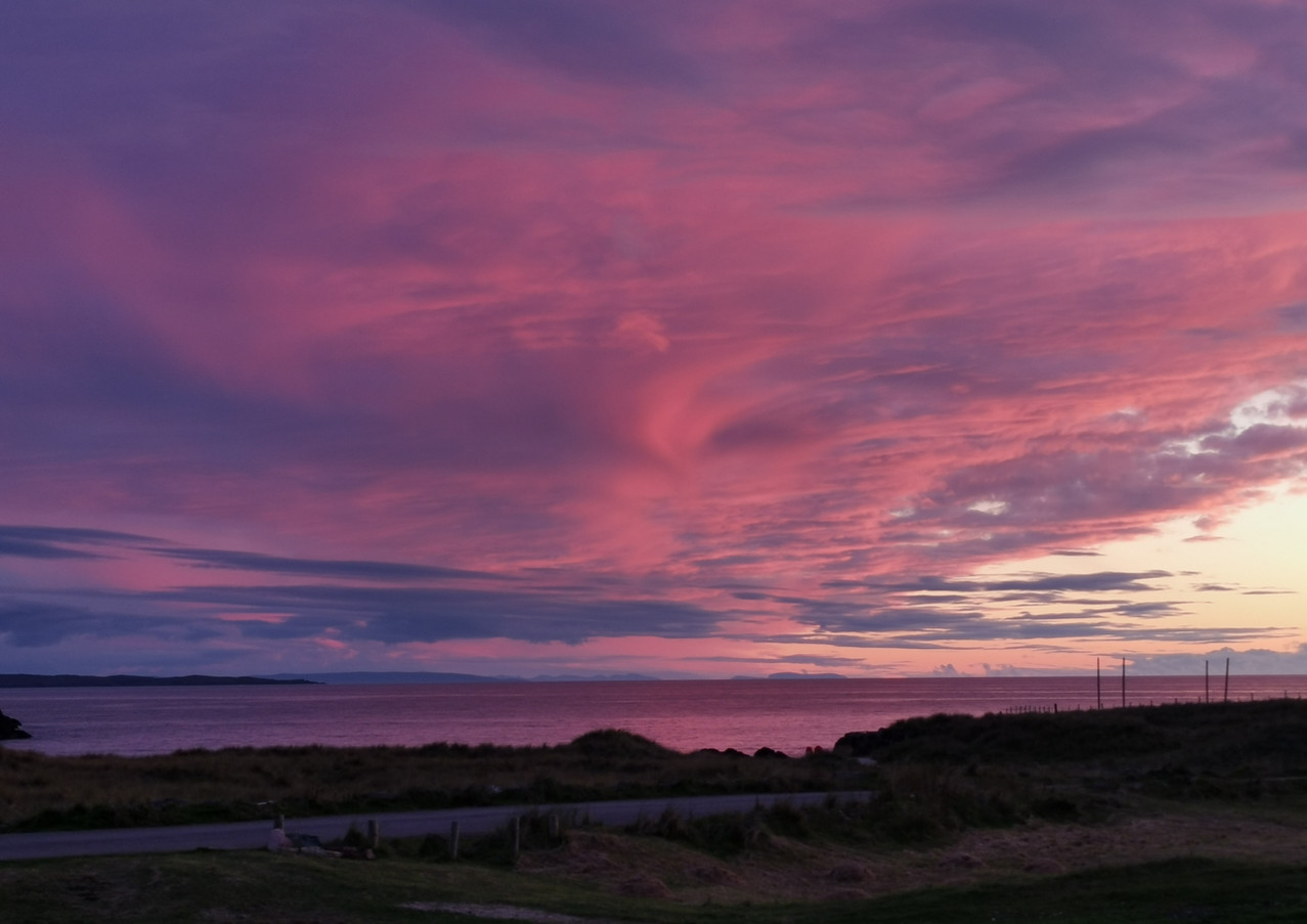 Clachtoll September sunset Assynt