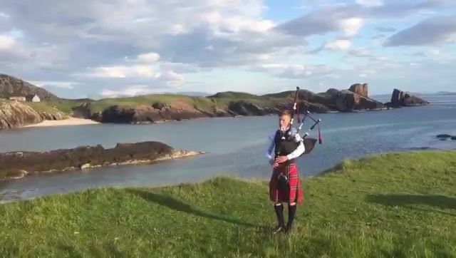 Clachtoll Piper Highland Cathedral Assynt