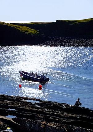 Boat bay Clachtoll Assynt
