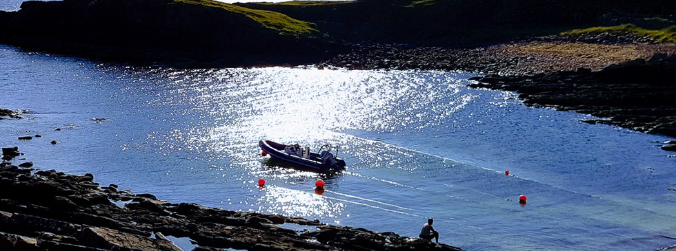 Boat bay Clachtoll Assynt
