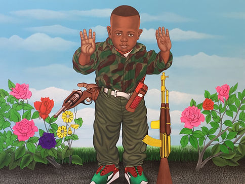 « Little Kadogo » Tableau de Cheri Samba