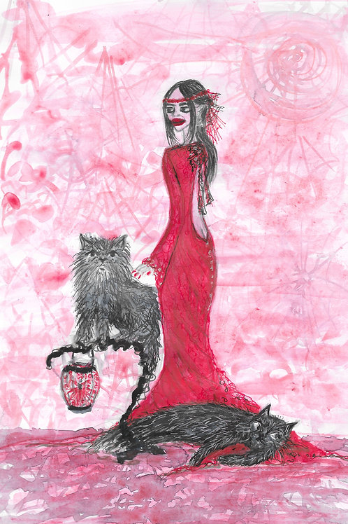 Ruby and the cats