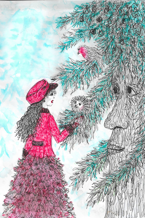 Scarlet and the tree