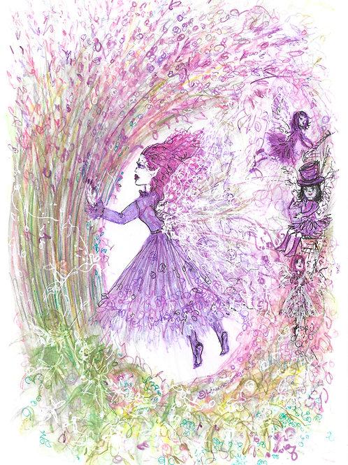 Floating Lavender Fairies