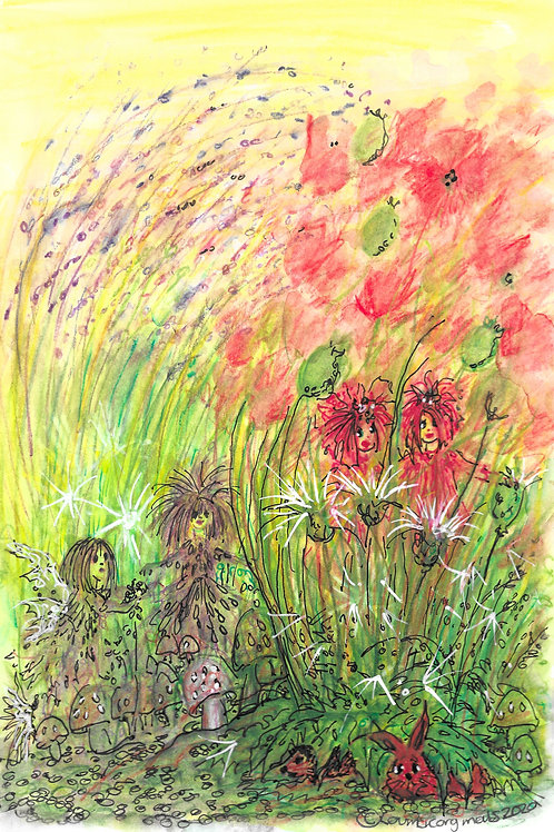 Poppies and fairies