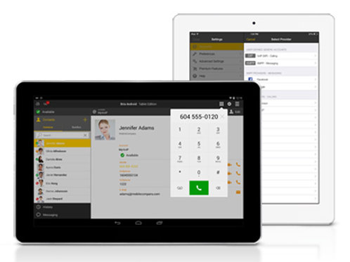 Bria Softphone for Android Tablet