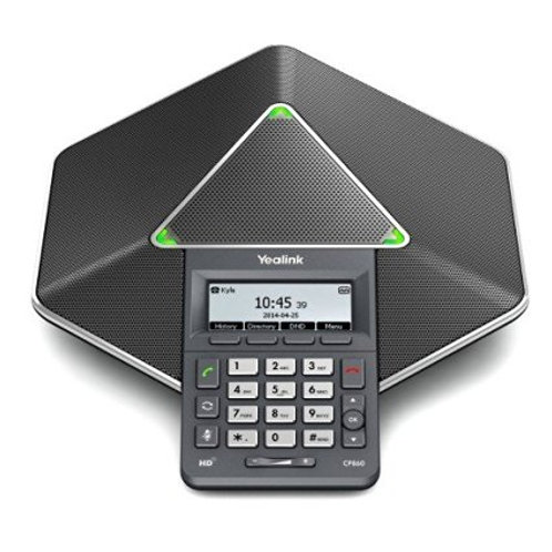 Conference Phone / Pod with LCD Display and Keypad - Optional Ext Mic