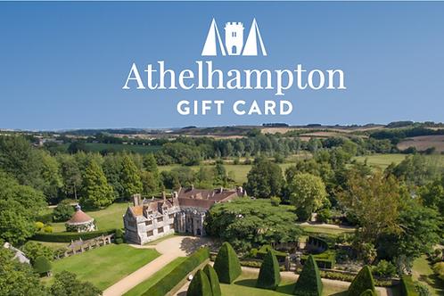Athelhampton gift shop physical gift card voucher present £50