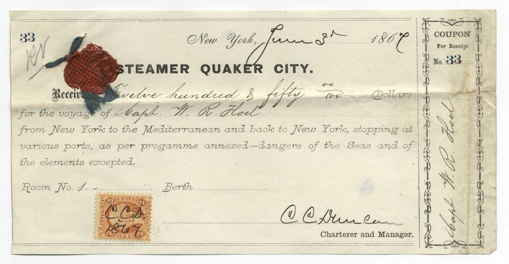 Capt William Hoel receipt