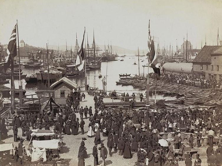 Bergen harbor ca. 1890