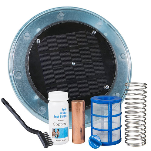 Solar Pool Ionizer with ONE (1) Copper-silver anode bar