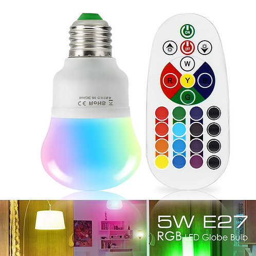 5W LED Color Changing Light Bulb with Remote Control