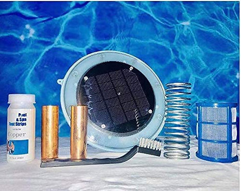 Solar Pool Ionizer with TWO (2) Copper-silver anode bars