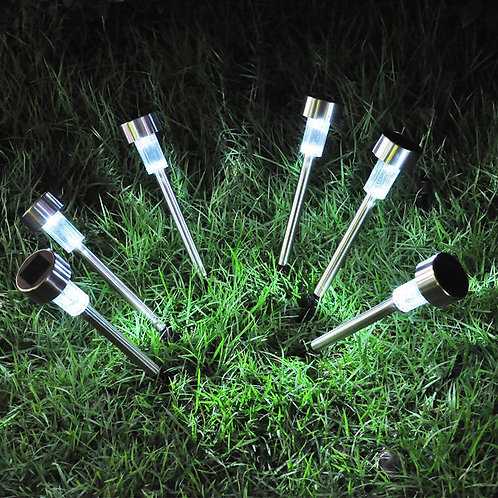 Solar pathway LED lamps 12-Pack