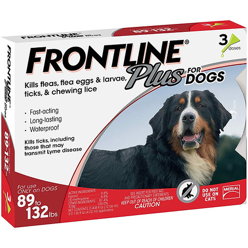 Frontline Plus for Dogs / 3 Doses