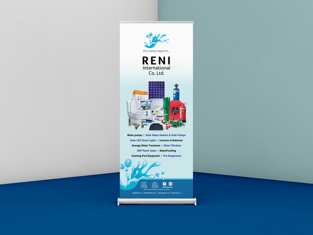 Reni International Co. Ltd Roll Up Banner