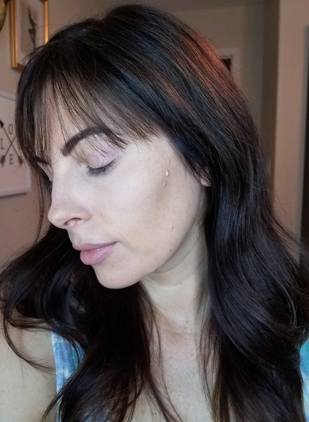 I apply a darker shade of foundation for my cheek contour. Blends so easily!