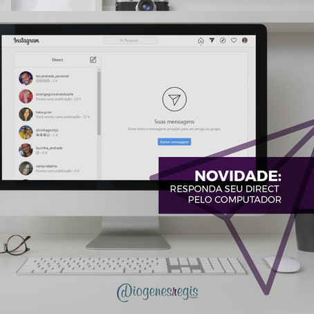 Como responder direct do Instagram pelo computador