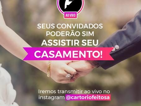 Cartório de Porto Velho oferece transmissão ao vivo pelo Instagram das cerimônias para convidados.