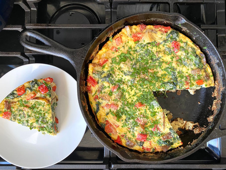 Red Pepper, Potato and Spinach Frittata