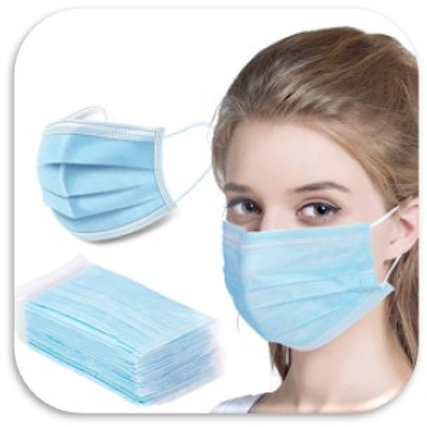 3-Ply FFP2 Disposable Face Mask 50-Pack