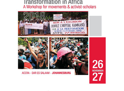 Live Feed! Transformation and Resistance in Africa –workshop for movements and activist-scholars -