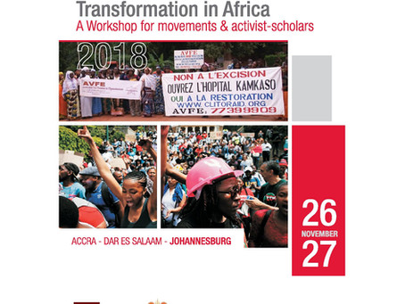 Live Feed! Transformation and Resistance in Africa – workshop for movements and activist-scholars -