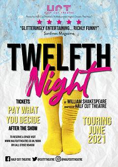 Half Cut POSTER twelfth night (TOURING)