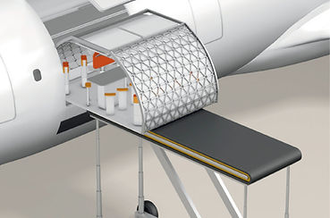 Transpose aircraft cabin design