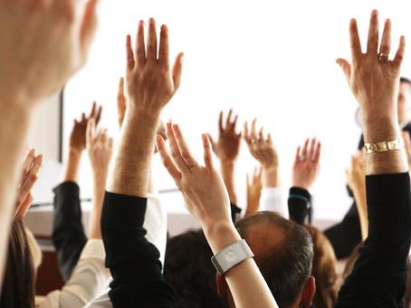 Голосование в ходе публичного выступления.