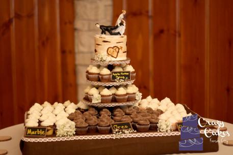 Birchbark Wedding Cake
