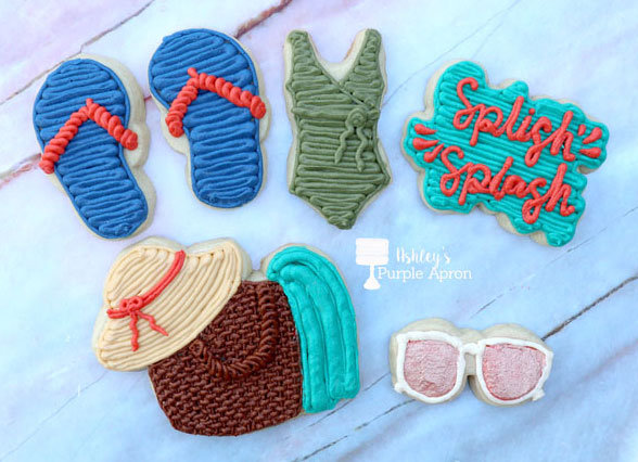 Buttercream Sugar Cookies: Pool Time